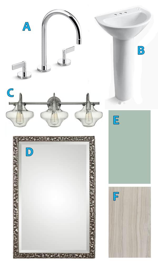 high budget bathroom selections